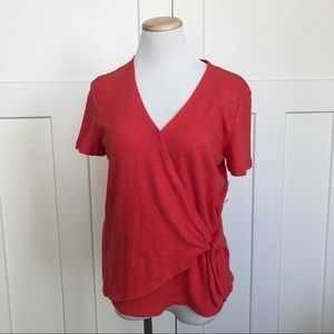 NEW Old Navy Wrap Knot Tie Front Top V-Neck Shirt